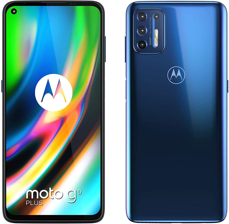 MOTOROLA Moto G9 Plus - Smartphone 128GB, 4GB RAM bei Media Markt und Saturn für 189,- Euro mit Newsletter-Gutschein