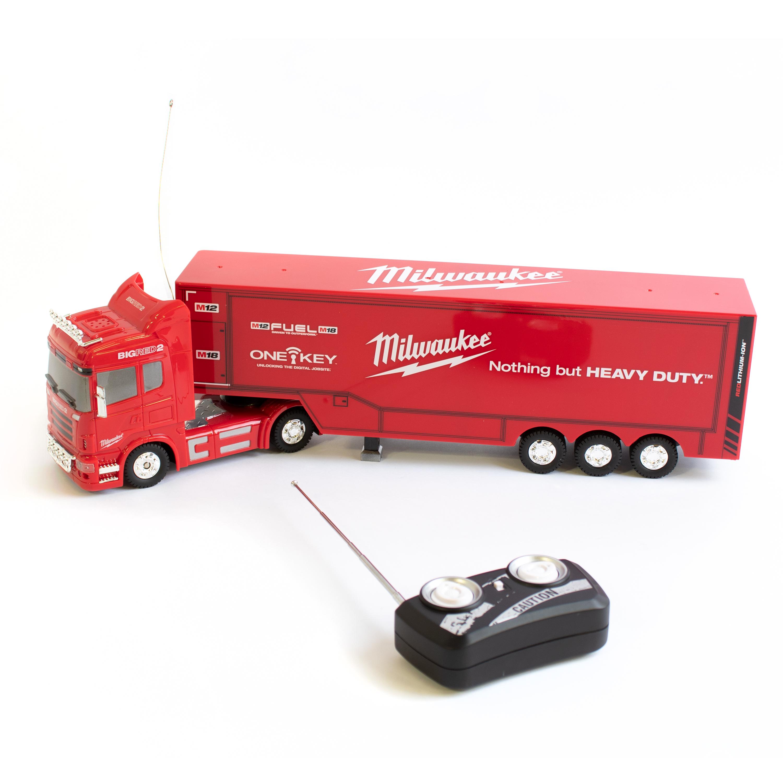 Milwaukee, Big Red RC Truck, ferngesteuert, mit Sound- & Lichteffekten und mehr