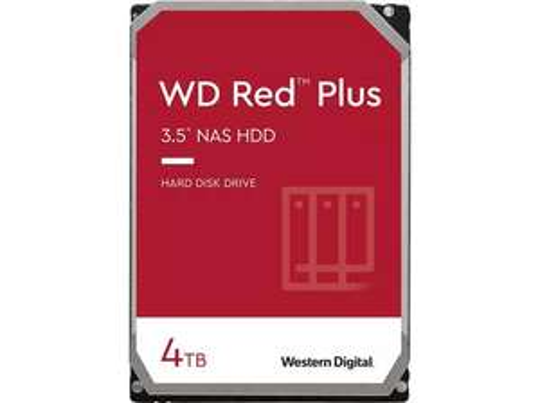 WD Red PLUS NAS-Festplatte, 4 TB (CMR)