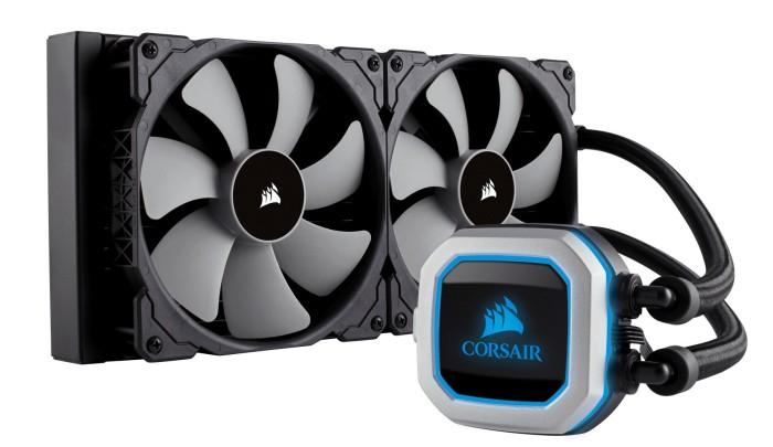 Corsair H115i PRO RGB CPU Wasserkühler 280 mm Radiator zwei ML140 Lüfter mit Beleuchtung passend u.a. für Sockel AM4 und LGA 1200