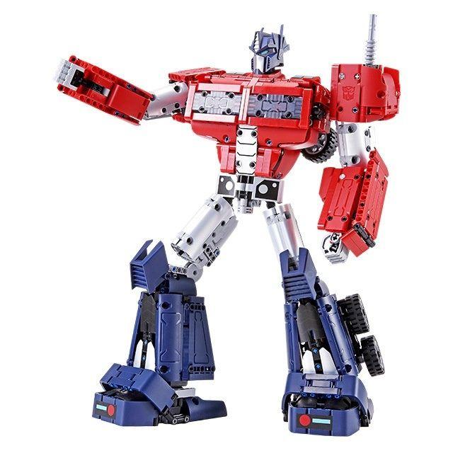 Xiaomi Transformers: Optimus Prime Klemmbausteine Set (1280 Teile, 2-in-1 Set, 3D Bauanleitung, Tüten nach Bauabschnitt, Hasbro Lizensiert)