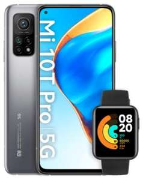Xiaomi Mi 10T Pro 128GB schwarz/silber & Xiaomi Mi Watch Lite im O2 Free M 20GB für 1€ einmalig, 31,99€ monatlich + 90€ Shoop