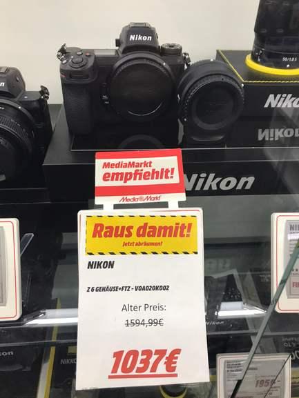 [Lokal - MM Erlangen] Nikon Z6+FTZ 1037€ // Nikon Z50+16-50mm+FTZ 669€ Und einige Objektive