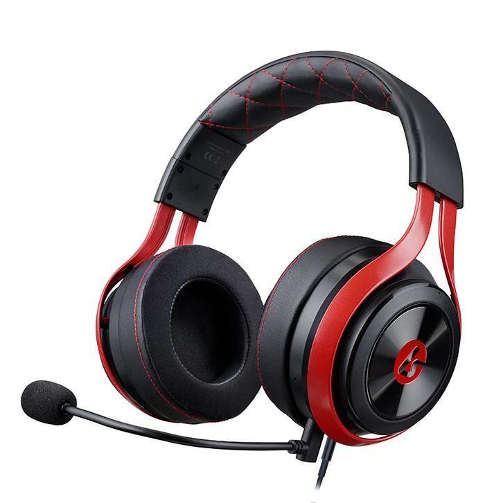 LucidSound LS25 eSports schwarz/rot Gaming-Headset (Kompatibel mit PS4, Xbox One, PC, Mac, Kabelgebunden)