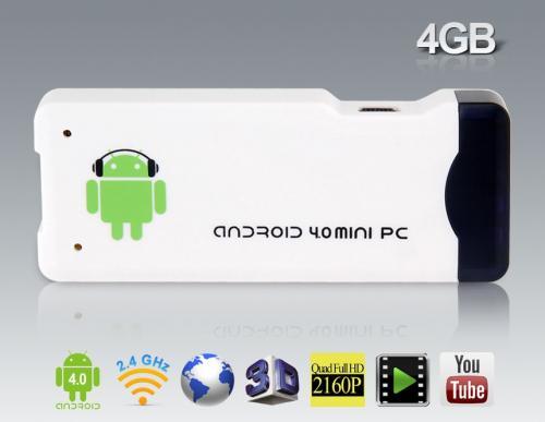Mini Android 4.0 TV Stick 4GB ARM Cortex-A8 DDR3 1GB für 34,17€