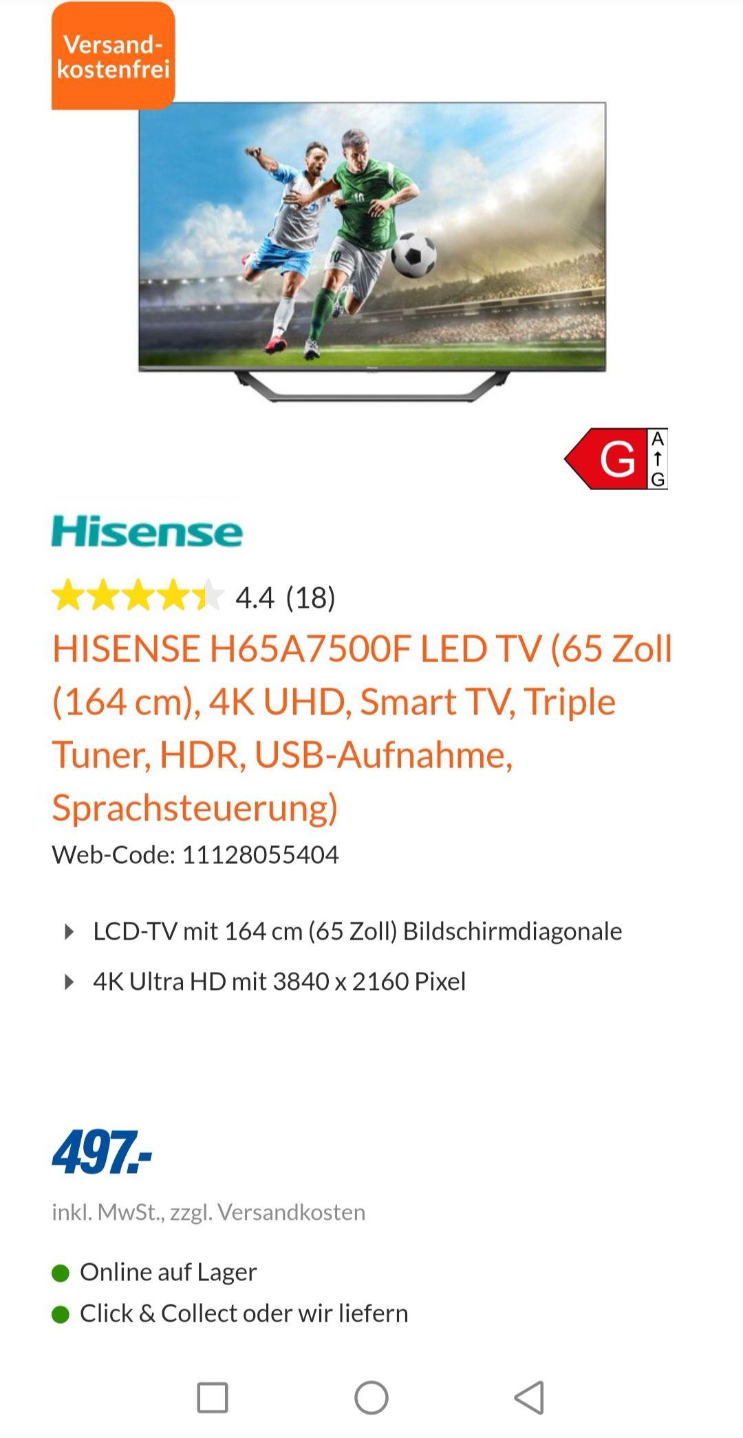Hisense H65A7500F LED TV Expert Bielinsky