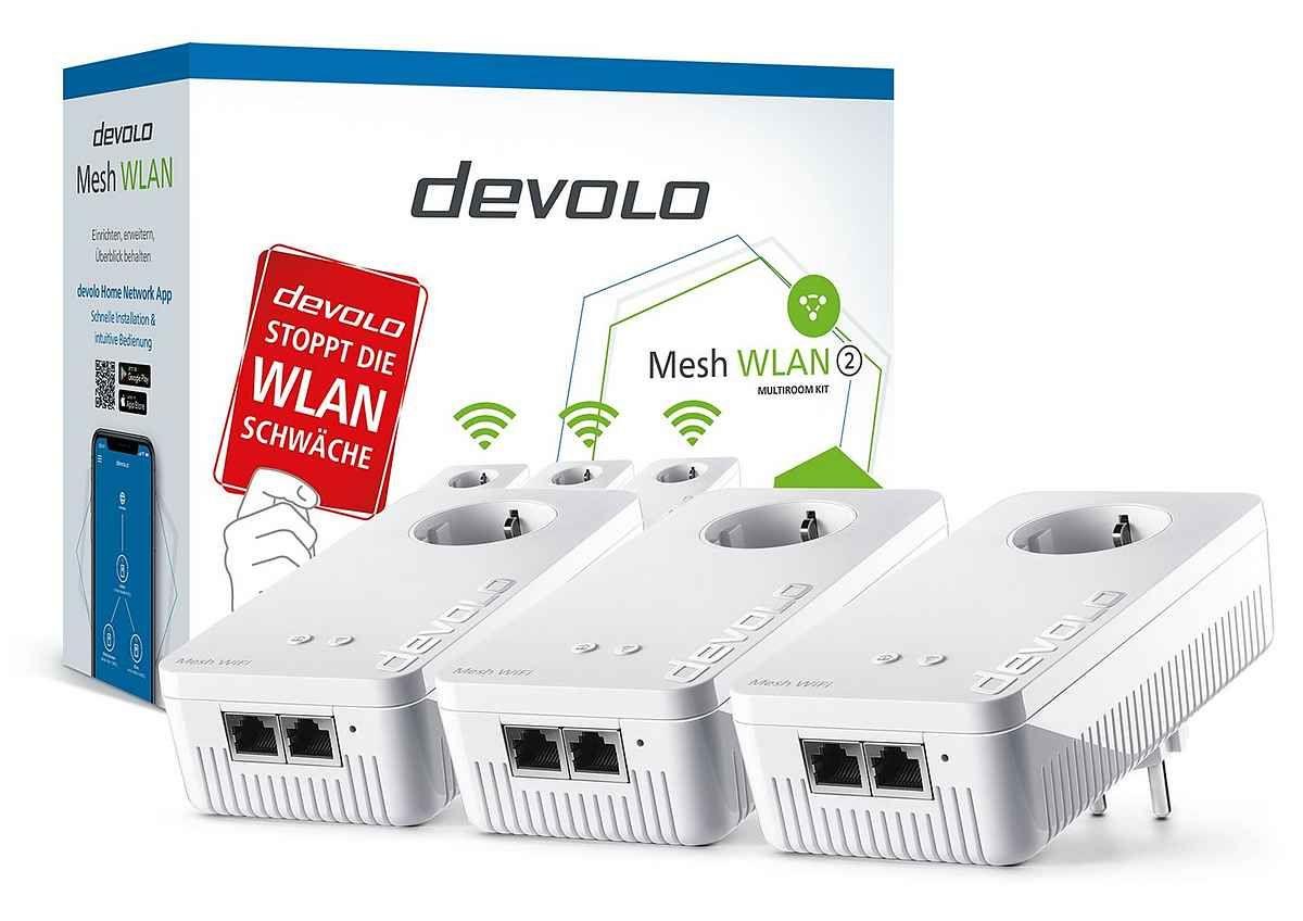 DEVOLO »2400 Mbit/s, 6x GB LAN, bestes Mesh Tri-Band)« Netzwerk-Switch (Mesh WLAN 2 Multiroom Kit) [Otto]