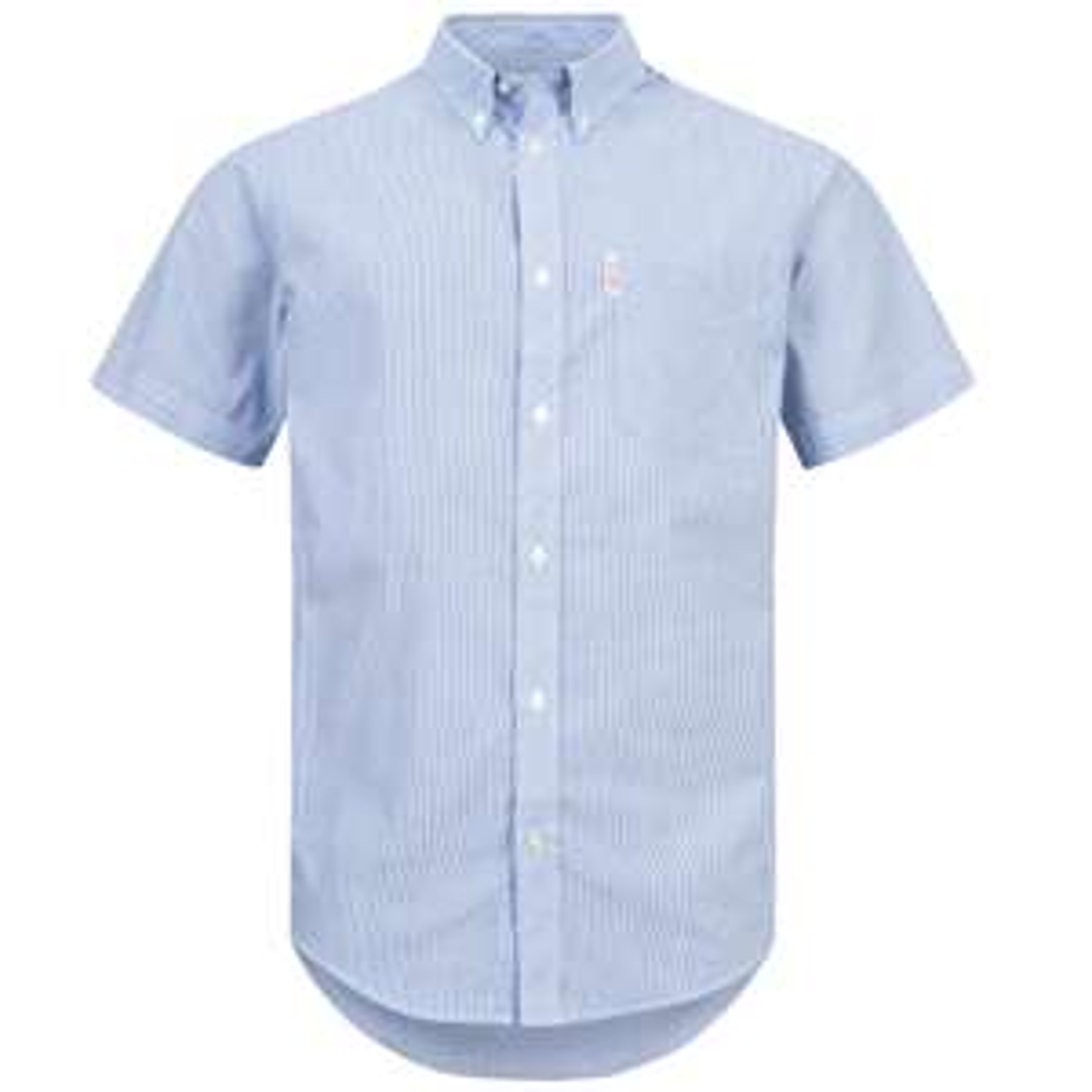 BRUTUS JEANS Kurzarm Hemd Blue Pin Stripe für 6,66€ + 3,95€ VSK (Größe S - L) [SportSpar]