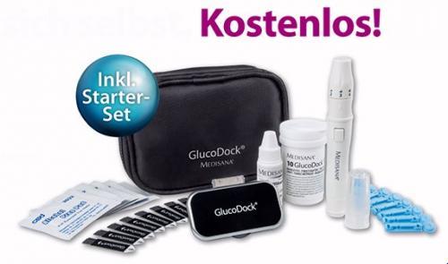 Gratis GlucoDock-Testgerät für alle Diabetiker