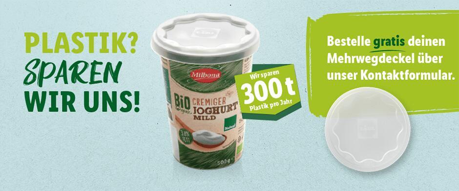 Lidl Gratis Mehrwegdeckel für Joghurts