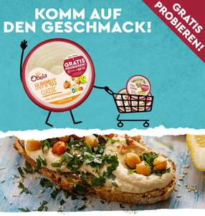 [GzG] Obela Hummus Produkte Gratis Testen