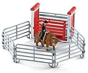 [Amazon Prime] Schleich 41419 Farm World Spielset - Bull riding mit Cowboy, Spielzeug ab 3 J., 29 x 16,5 x 17,2 cm