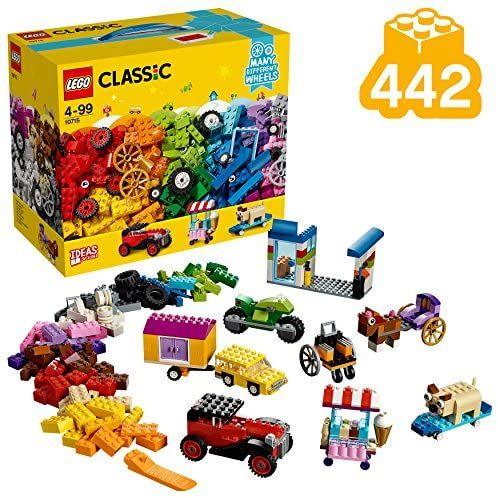LEGO 10715 Classic Kreativ-Bauset Fahrzeuge, bunte Bausteine, Bauset mit Reifen und Rädern (442 Teile) [Amazon Prime]