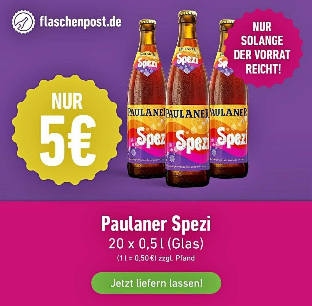 [Lokal: Mainz, Wiesbaden] Paulaner Spezi - das einzig Wahre - 20 x 0,5l Kasten für 5 € zzgl. Pfand - 20€ MBW