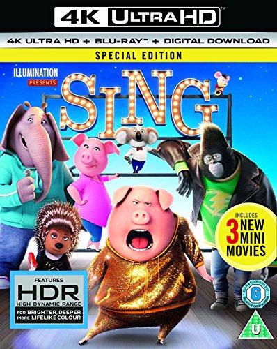 [Dodax über Amazon.de] Sing 4K UHD Blu-ray für 5,08€ + 3€ Versand (evtl. UK-Import)