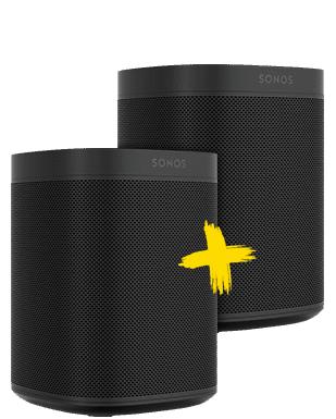 Doppelter Sound Sonos One Smart Speaker Doppelpack