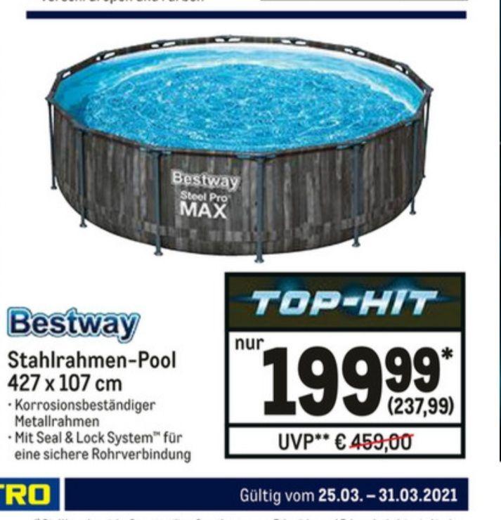 Metro - Nur Abholung Metro Bestway Pool Steel Pro Max