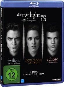 [Amazon.de] Die Twilight Saga 1-3 - Was bis(s)her geschah... [Blu-ray] [Limited Edition]