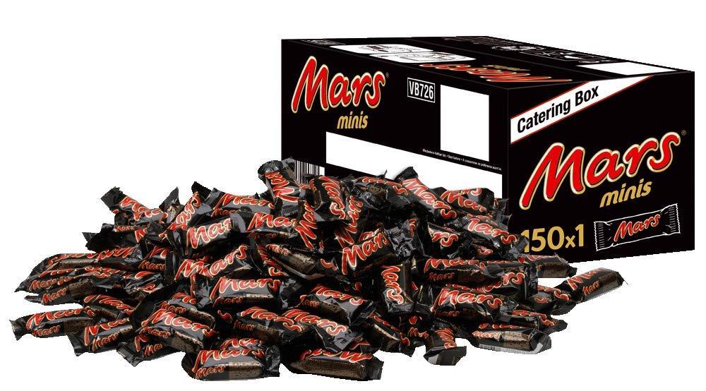 [Prime] Mars Schokoriegel   Minis, Karamell   150 Riegel in einer Box (150 x 18 g = 1 x 2,7 kg, 6,59€ / KG, Sparabo möglich)