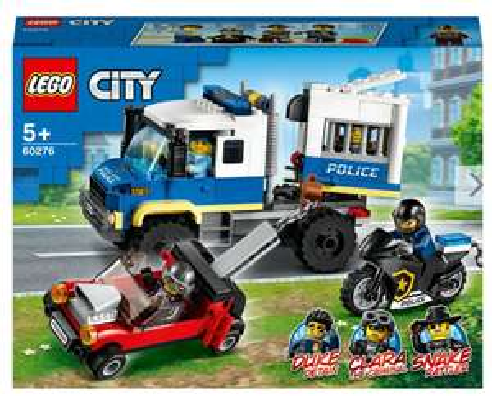 Viele Lego City Sets reduziert. z.B LEGO 60276 City Polizei Gefangenentransporter mit Amazon Prime kostenloser Versand.