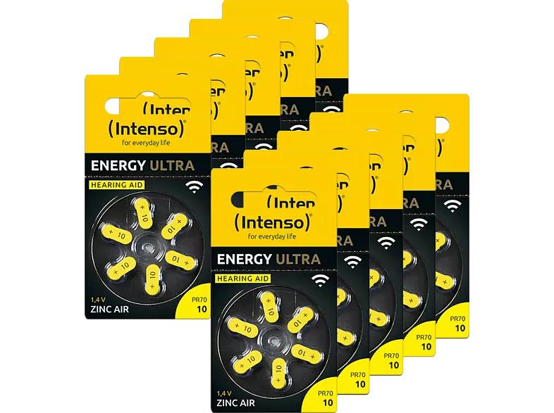60 x Intenso Hörgeräte Batterie PR70 (Zink Luft, 1.45 Volt, bis 86Std./86mAh) [Saturn Abholung]