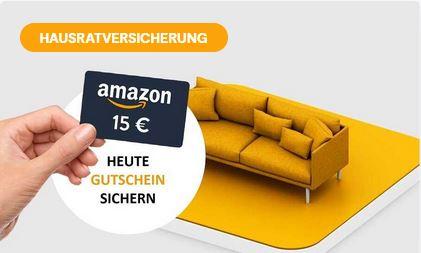 [HUK24] Hausratversicherung abschließen und 15 € Amazon.de Gutschein sichern / KWK bis 30€ möglich