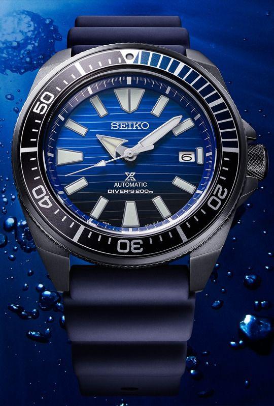 """10% auf alles @Timeshop24 - Seiko Sammeldeal - z. B. Samurai """"Dark Ocean"""" Automatikuhr Save the Ocean Special Edition Diver"""