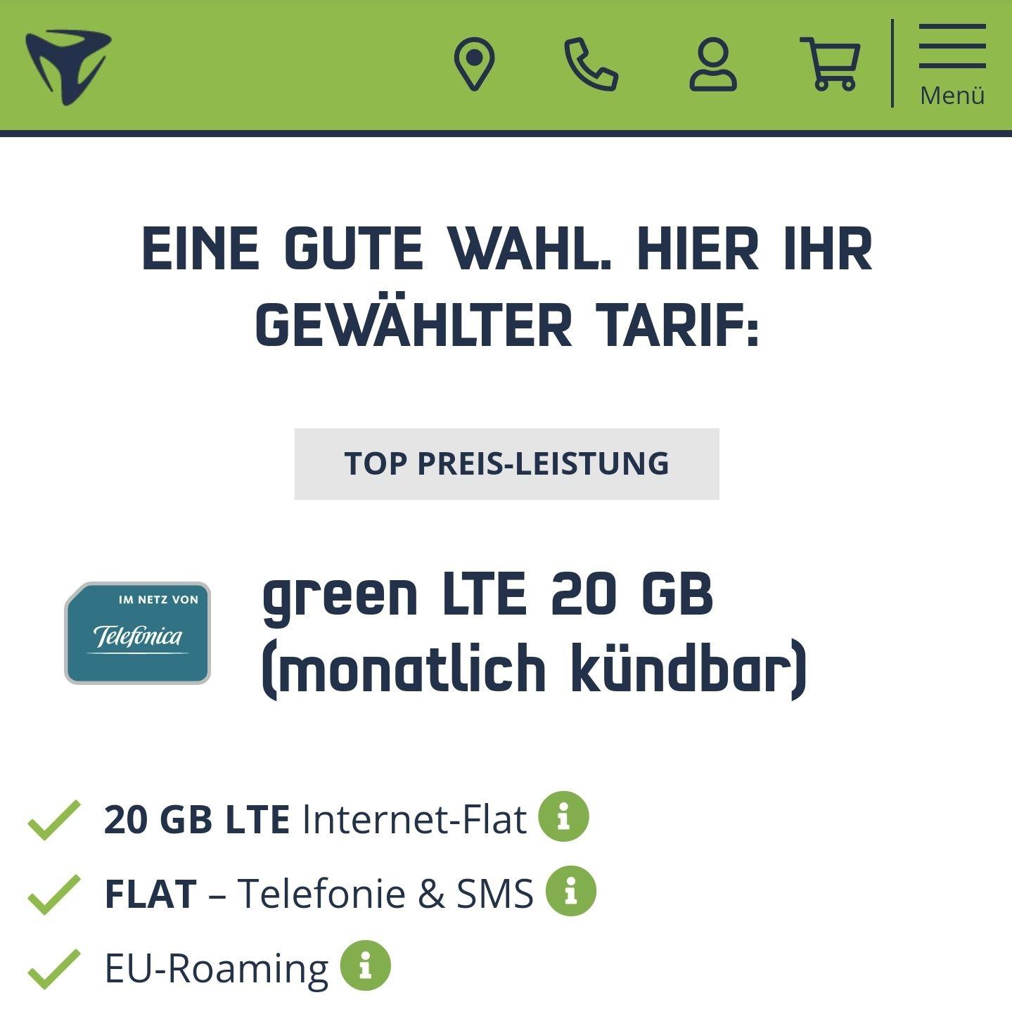 mD green LTE 20GB