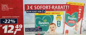 [real-markt] pampers baby dry 2x Windeln oder Pants