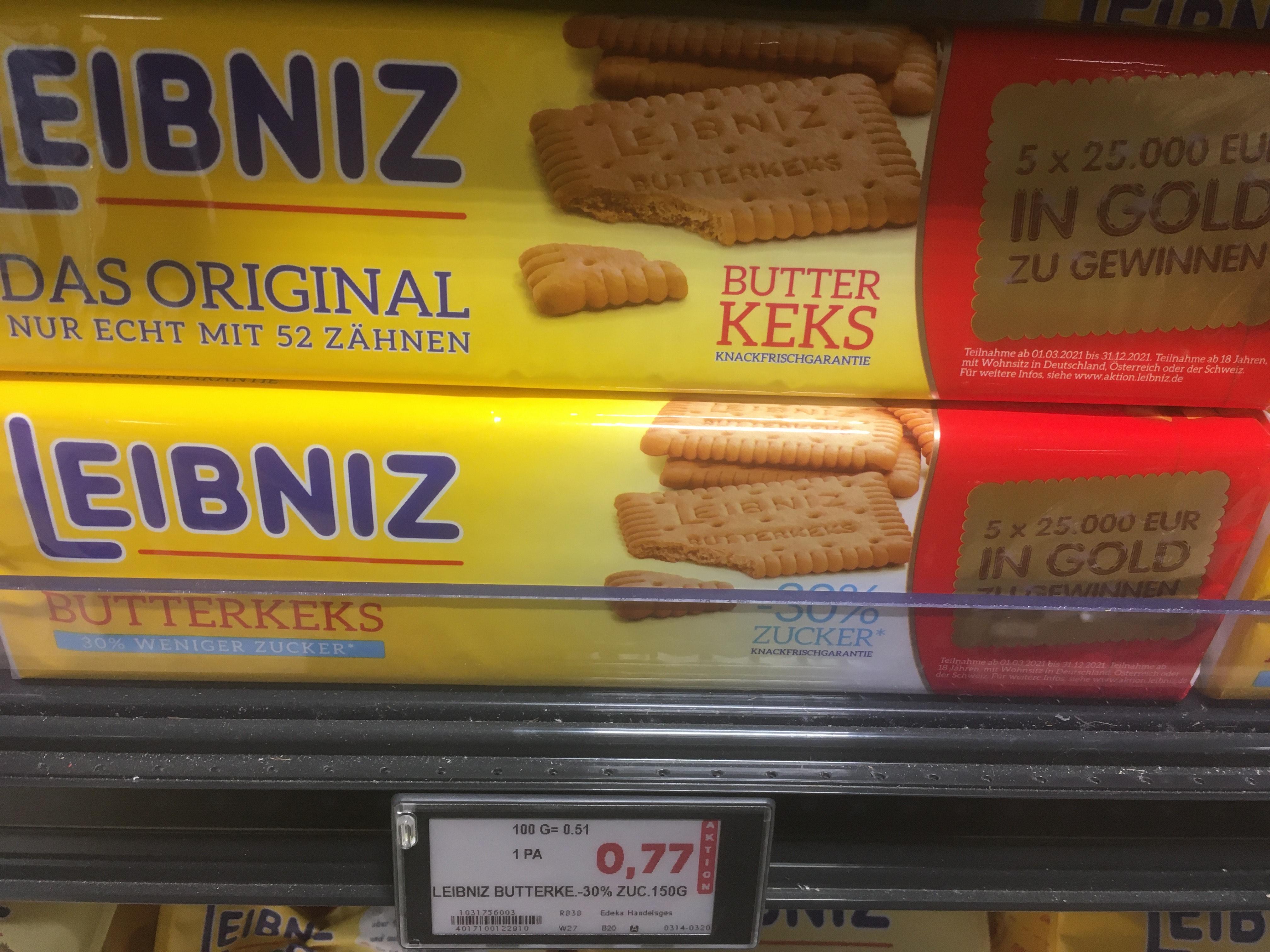 Leibniz Butterkeks verschiedene Sorten
