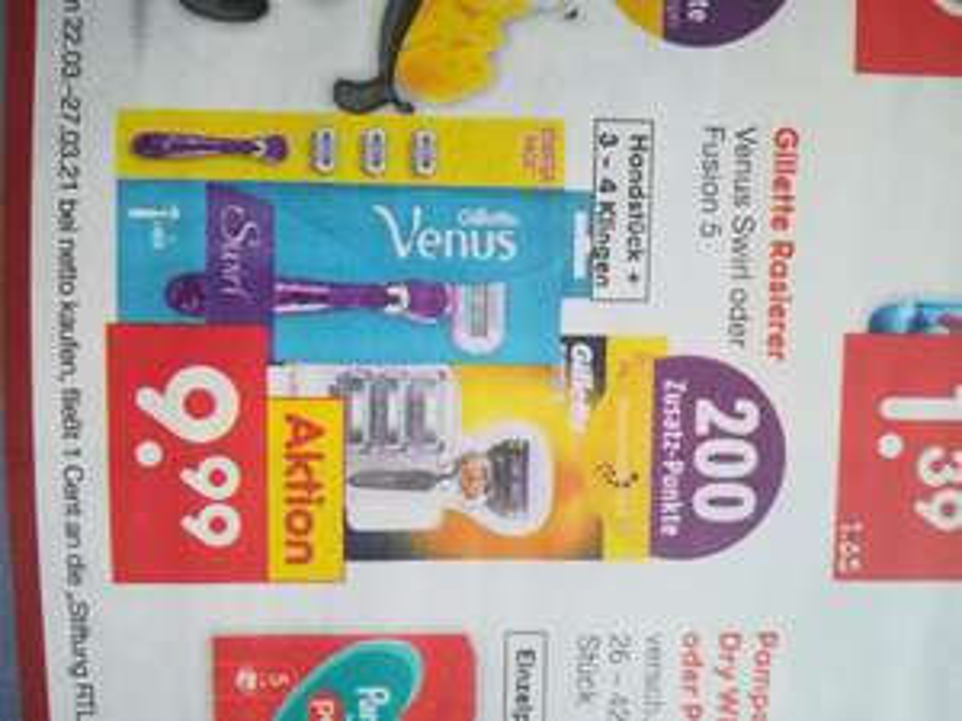 4 Klingen inkl. Handstück für Gillette Fusion 5 Proglide (effektiv 7,99€ aufgrund 200 Deutschlandcard-Punkte)