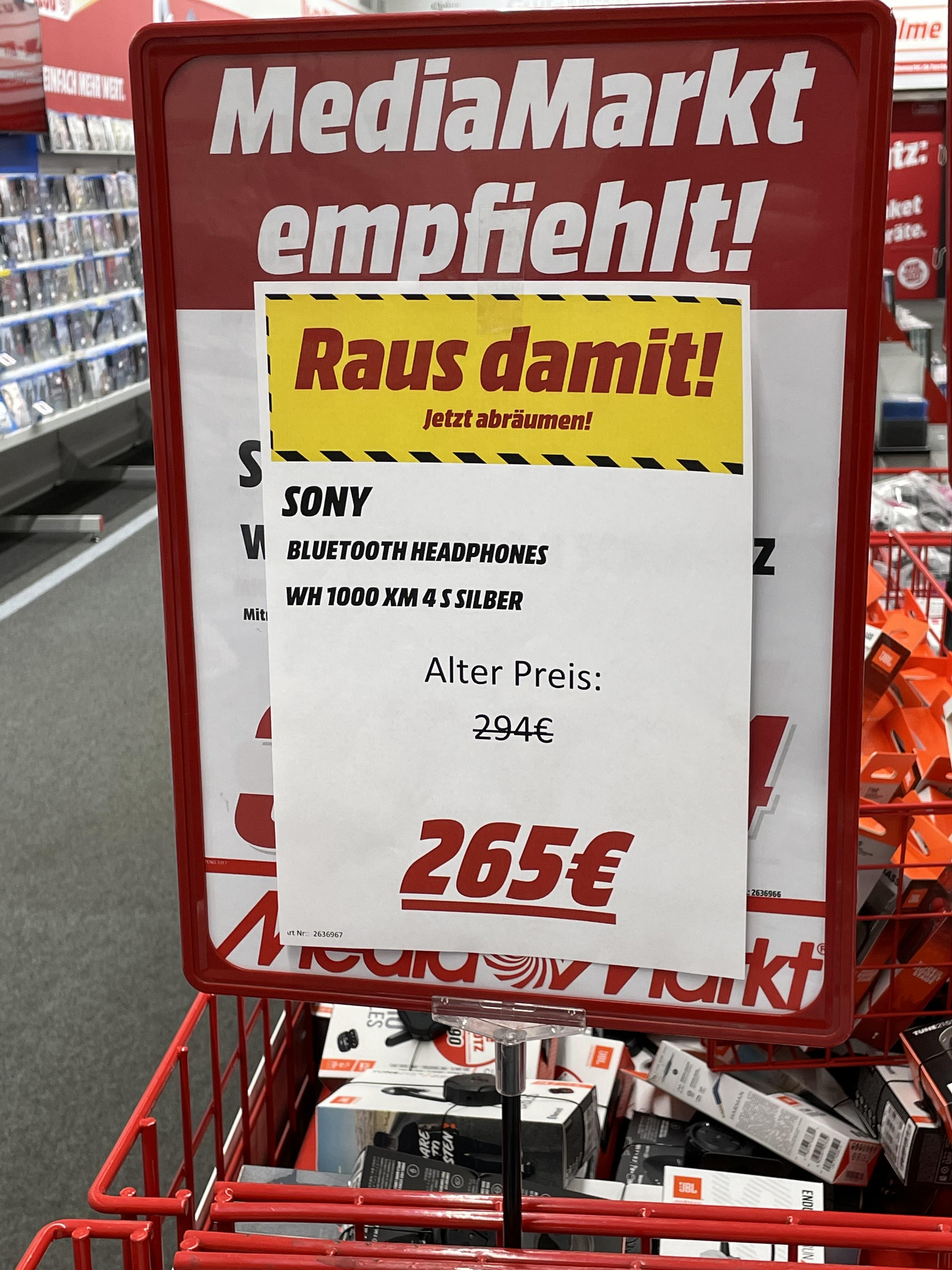 Sony WH1000XM4 in Silber [LOKAL MM Dresden-CentrumGalerie]