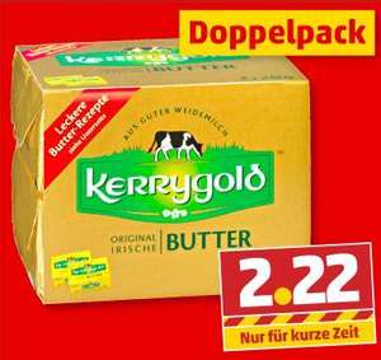 KERRYGOLD Original irische Butter 2x250g bei Penny [Framstag]