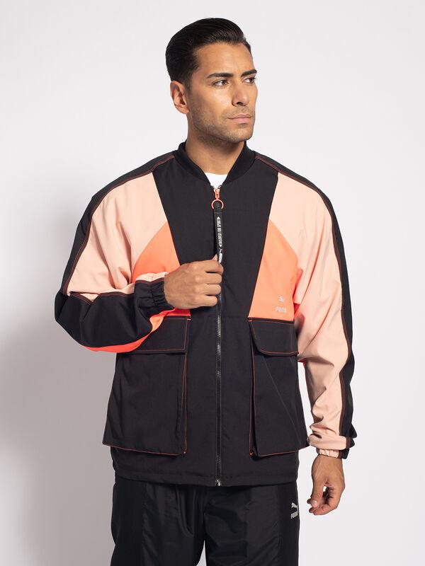 Puma TFS Industrial Track jacket , schwarz/orange