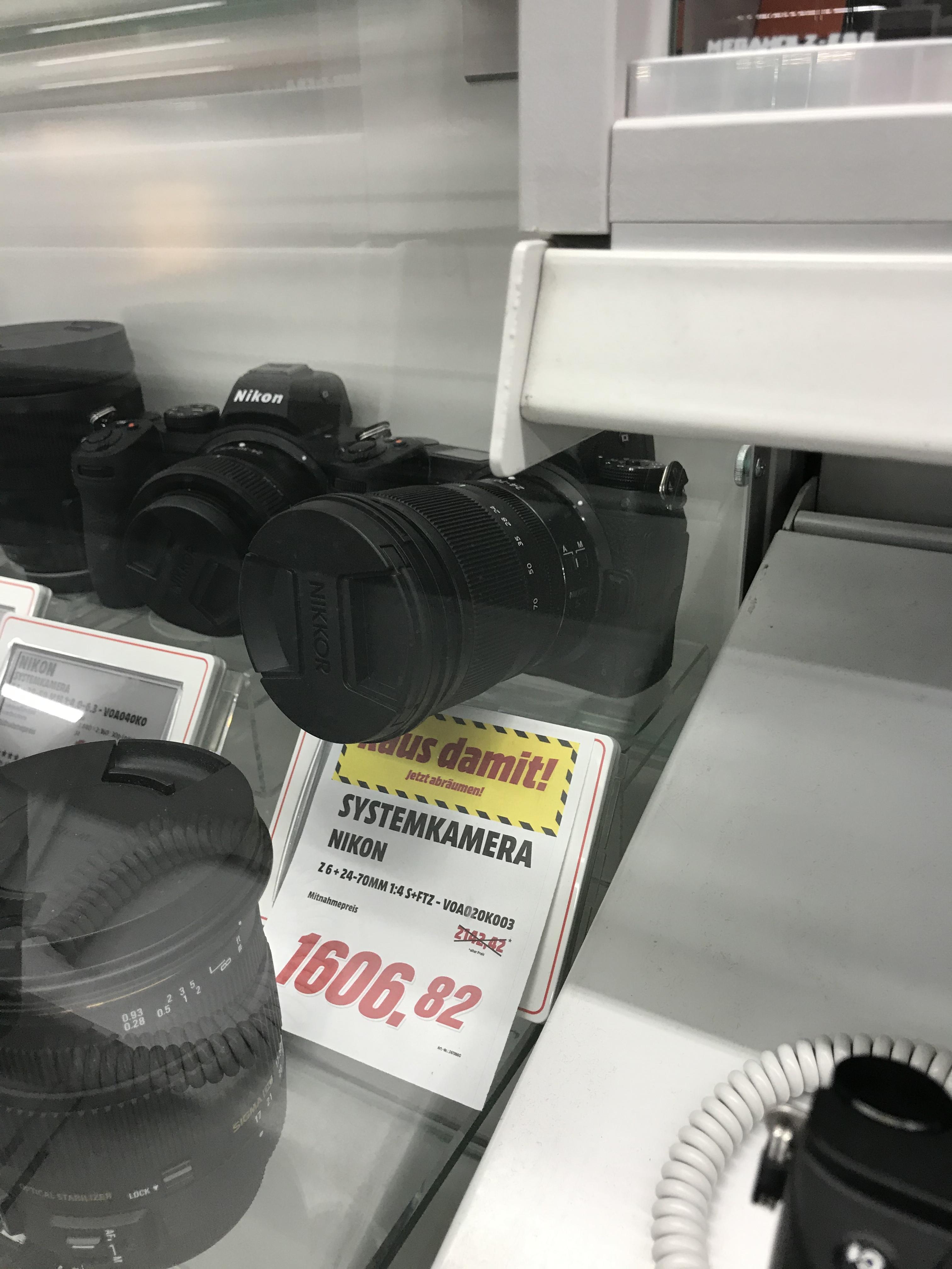 [Lokal] Nikon Z6 FTZ-Adapter 24-70 F4 Kit
