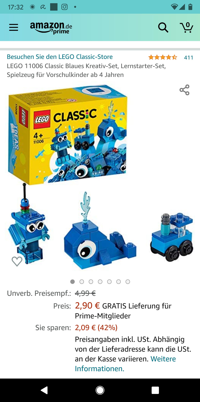 Lego kreativset blau Amazon Prime, lange Lieferzeit
