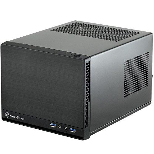 SilverStone SST-SG13B-Q - Sugo Mini-ITX kompaktes Cube Gehäuse, schwarz