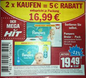 [hit] pampers baby dry pants Dreierpack (Doppel Aktion Fehler?)