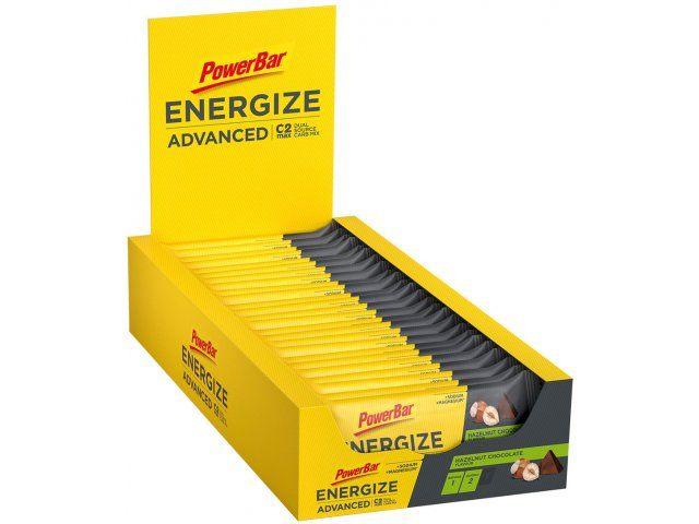 PowerBar Energize Advanced Riegel - 25 Stück / choco-hazelnut ODER mocca-almond