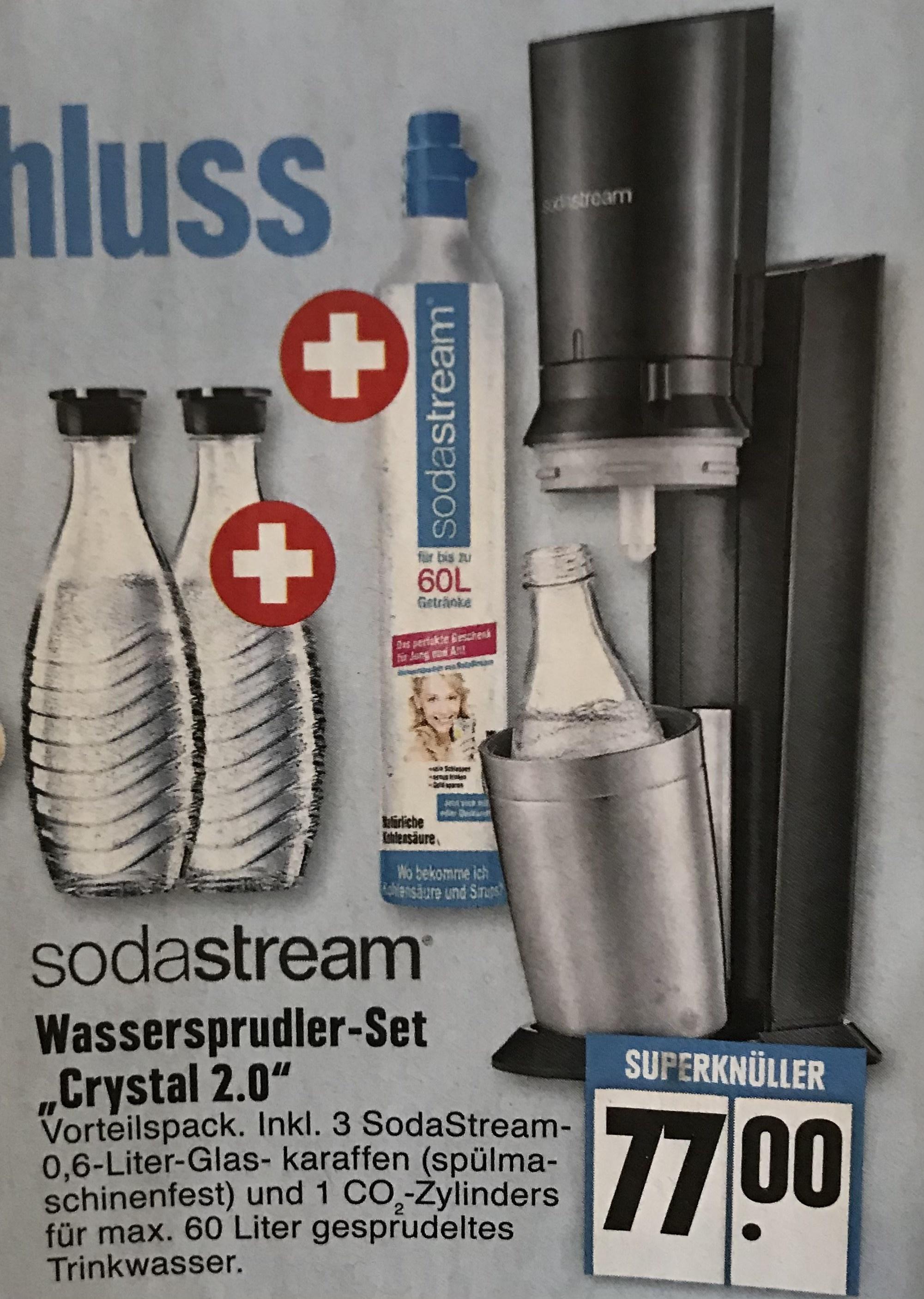 [Lokal - Duisburg] Sodastream Crystal 2.0 + 3 Glaskaraffen + 1x CO2 Zylinder