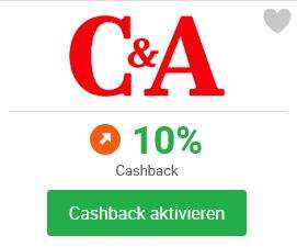 iGraal: 10% Cashback statt 4% bei C&A