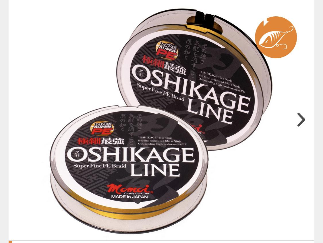 Für UL Angeln mit Spoon: Momoi Oshikage 0,053 mm | Fluo Gelb | 100 m
