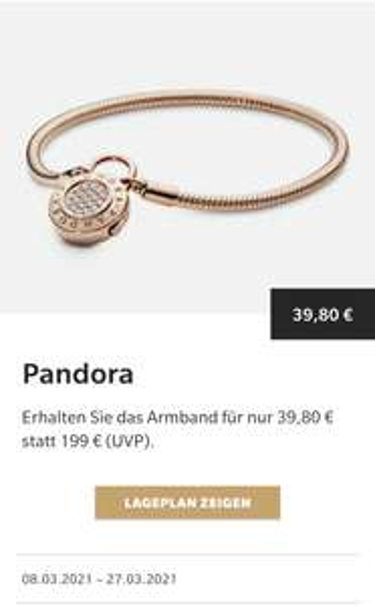 Pandora Armband - Lokal Metzingen ( Outletcity)