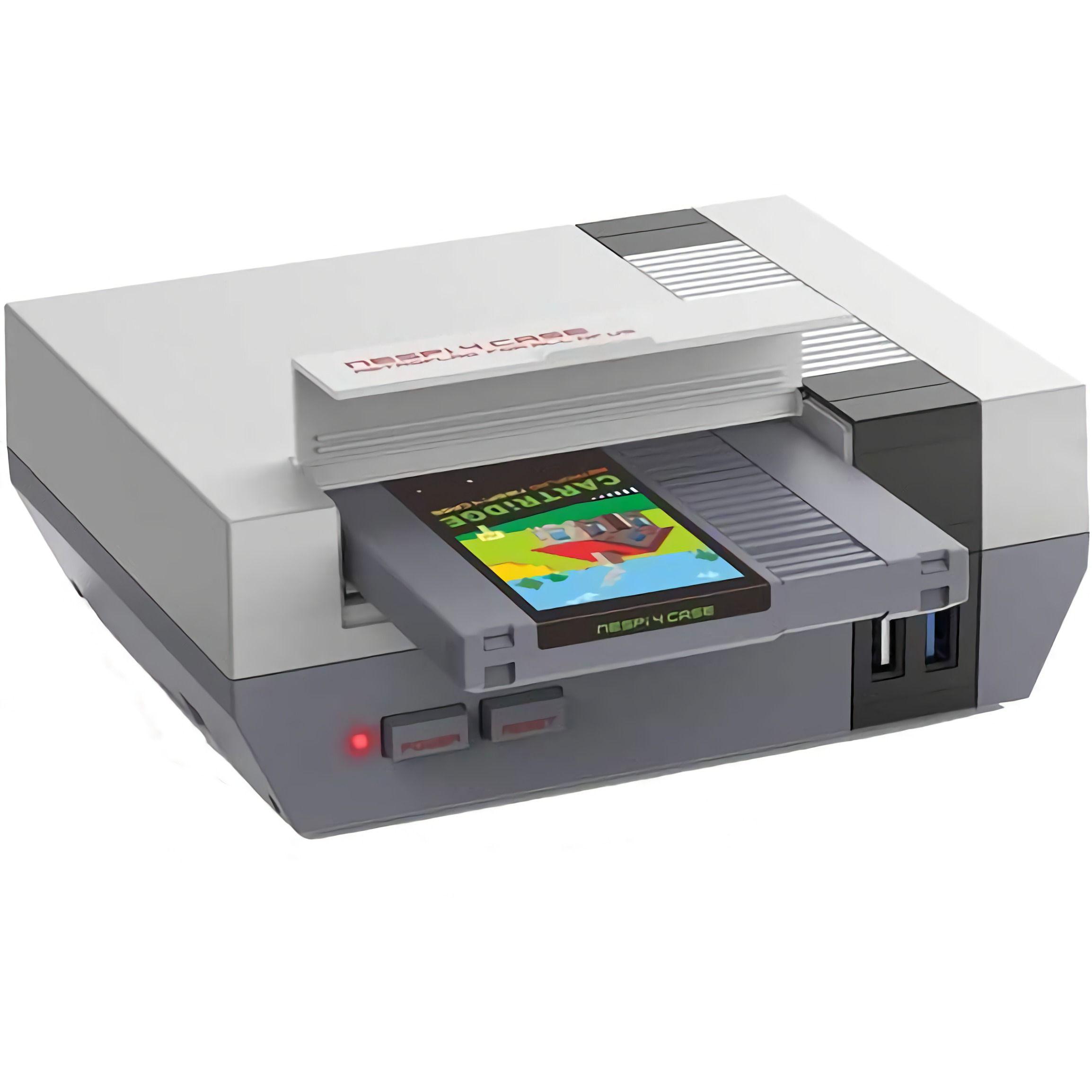 Retroflag NESPi 4: Case für Raspberry Pi 4 mit SSD Slot - Versand aus EU (NES Design, 2.5 Zoll SSD, EU Netzteil, Kühlerlüfter)
