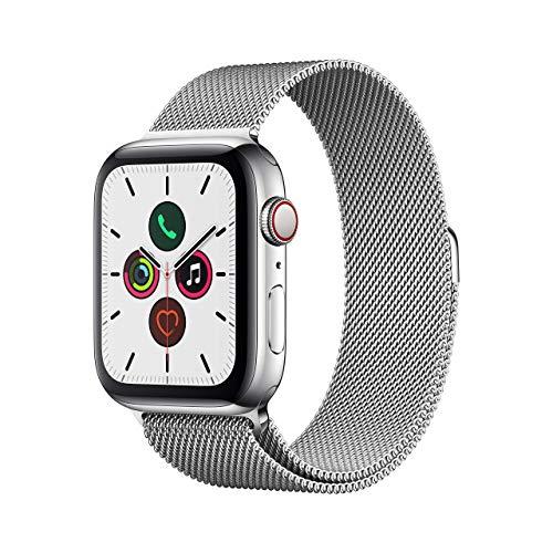 Apple Watch 5 44mm Edelstahl Milanaise silber (Amazon.es, gold für 529,13€ über .fr)