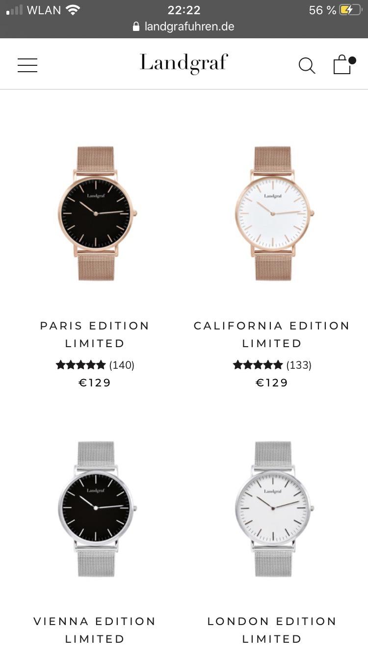 Landgraf Uhren für nur 59,99€