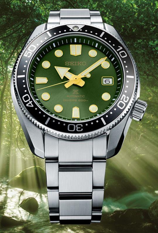 """Seiko Prospex """"Dark Green Sunset"""" Automatikuhr Diver SPB105J1"""