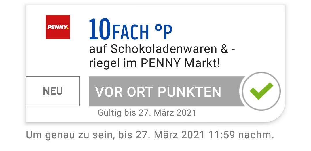 Penny - 10fach Payback Punkte auf Schokoladenwaren & -riegel