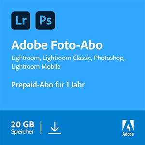 [Amazon/ NBB] Adobe Creative Cloud Foto-Abo mit 20GB: Photoshop und Lightroom | 1 Jahreslizenz