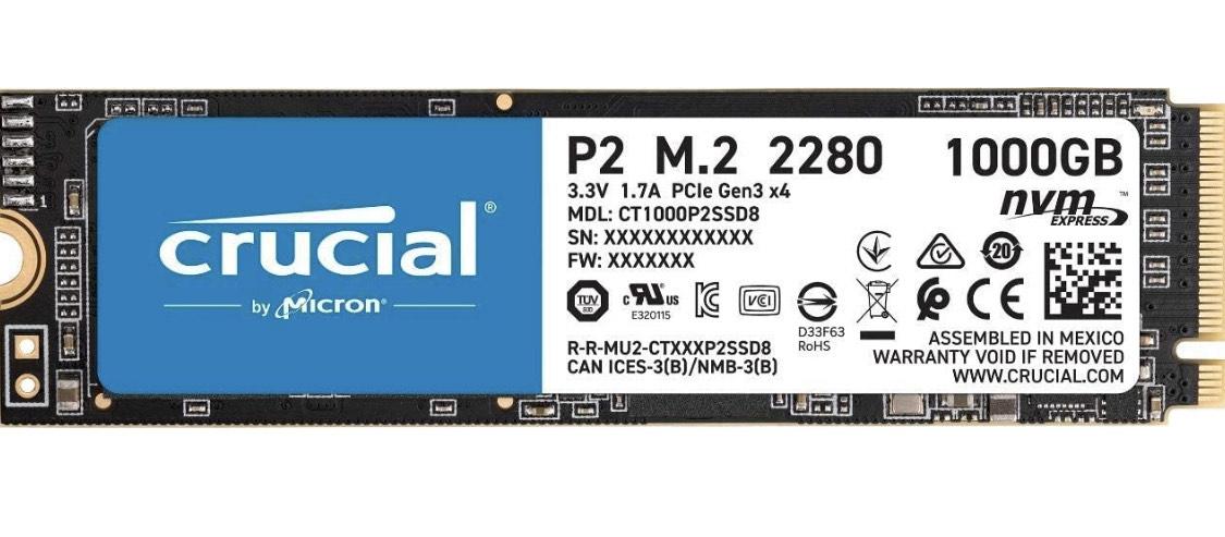 [Amazon] Crucial P2 CT1000P2SSD8 1TB SSD